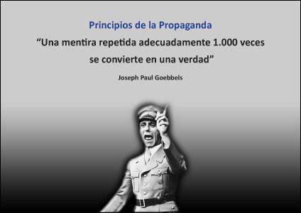 La propaganda manipuladora enemiga de la cultura de paz